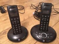 Bt twin cordless phone n answering machine