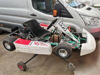 Adult Petrol Racing 2 Stroke 100cc Go Kart + SOLO Engine + slicks Ready to Race 20hp!!