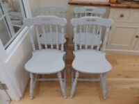 Sturdy painted wooden kitchen chairs