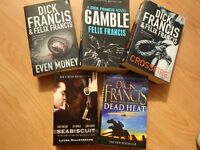 Books - 4 Dick Francis + Seabiscuit.