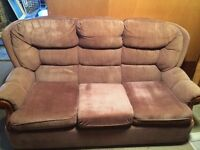 3 Piece Brown Stripped Suite