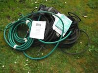 Leaky garden watering hose system