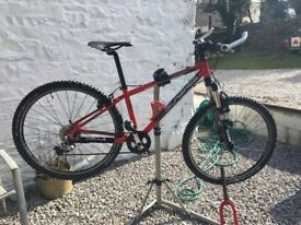 Islabike- Beinn 26 Large Frame, red. Added RockShox XC30 front fork with handle bar control.