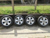 Brand New 17 inch VW Devonport Alloy Wheels & Bridgestone Duravis R660 tyres 215/60/R17