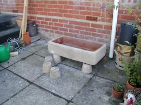 GARDEN TROUGH 82 x 43 x 19 cm £29 ono. - for the garden, patio, decking or conservatory