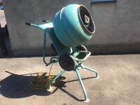 Altrad Barowmix 110v Cement / Concrete Mixer + Stand ( Belle )