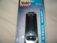 Yale Safety Hasp - Black Steel - Boxed - Excellent Condition