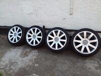 Audi s3, tt genuine 18 alloys with tyres
