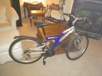 """Barracuda Tremor mountain bike Full front and rear suspension. 36cm frame to suit person 5' to 5'7"""""""