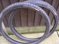 Bike Tyres x 2 used but have plenty of tred
