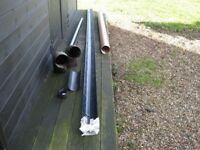 half round guttering 4m + end cap and drainage pipe
