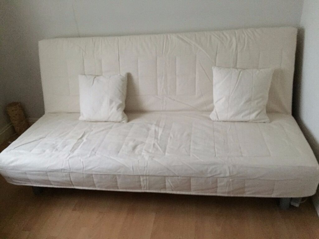 cover and 2 matching cushions for ikea beddinge lovas sofabed not sofa beige fabric in. Black Bedroom Furniture Sets. Home Design Ideas