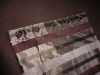 Curtains Brown Stripe Lined used