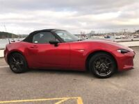 Mazda MX-5 MkIV roadster in Soul Red. Very low mileage. Like brand new.