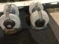 Adjustable dumb bells 5kg - 32.5kg