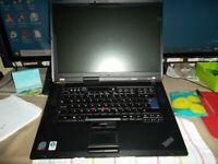 Laptop *** Lenovo ThinkPad R500 Model T6570 Core 2 Duo 2.10GHz 4 GB RAM 320 GB HDD