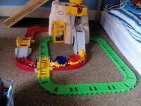 little tikes car and rail play set
