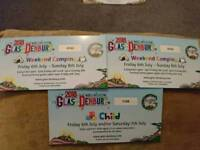 Two weekend camping tickets for glas-denbury