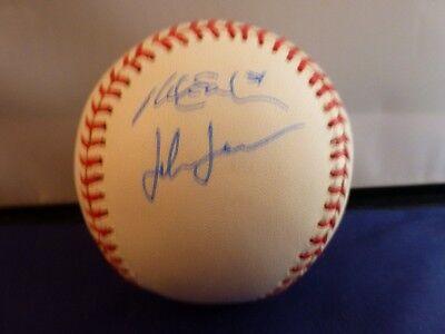 John Jaso and Mike Ekstrom Signed MLB with COA