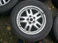 "Landrover/Rangerover 18"" alloy wheels with Wrangler Tyres x5 fits vw T5"