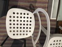 ikea white metal chair stackable - Great conditionikea white metal chair stackable