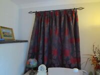 3 Pairs Matching Lined Curtains