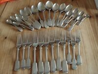 Vintage Forks and Spoons Stainless Nickel Silver H.H&S x 32pieces.