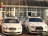 Bentley Rolls Royce Porsche Hummer Wedding hire Proms Partys Airport Transfers