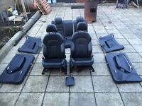 AUDI A5 07-14 COUPE FULL BLACK NAPPA LEATHER S LINE SEATS +DOOR CARDS+ ARM REST