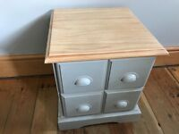 Shabby Chic Set Of Drawers Pine Annie Sloan Chalk Paint Paris Grey