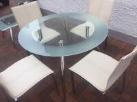 Stunning. Table and chairs and side. Table