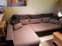 Corner sofa bed in a very good condition and memory foam mattress