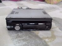 SONY CAR STEREO including CD PLAYER and AUX facility. WORKING FINE, looking for a quick sale.