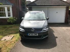 Volkswagon sharan 2.0 2015 65 plate bluemotion Automatic in excellent condition