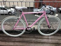 Women's Create Single Speed/Fixie Pink Road Bike.