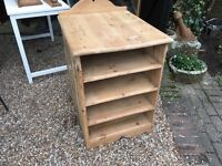 Solid vintage pine shelving unit ....free local delivery