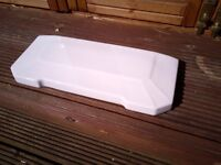 White Toilet Cistern Lid