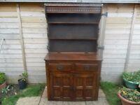 Solid Oak Kitchen Dresser