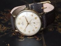 Vintage 9k 9ct Solid gold Smiths Deluxe mens watch (no inscription)