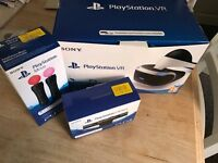 Playstation VR, headset, 2 move controllers, camera, all new, PS4