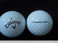 Callaway Chrome Soft Golf Balls x 50. B / Practice Grade