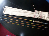Vintage 4 Piece Can Fly Fishing Rod in Original Canvas Bag