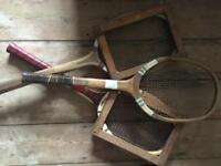 3 Vintage Tennis rackets