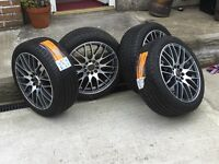 SET 4 X 17' WOLF RACE ALLOYS BRAND NEW WITH NEW TYRES (HALF PRICE) FITS FORD, VW, peugeot