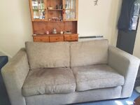 Sofabed 2 chairs and storage pouffe