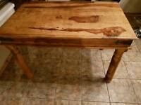 Indian wood table and chairs