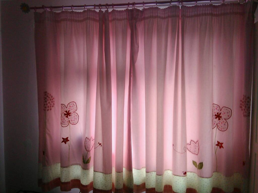 Next embroidered girls curtains with curtain pole and flower ...