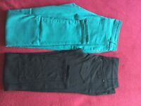 Two pairs ex condition jeans/trousers - size 10