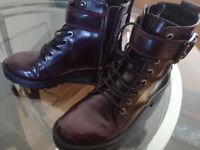 Biker ankle boots with buckles (Similar Doc Martens)
