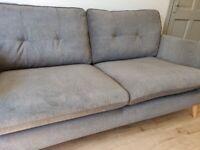 3 seater grey sofa